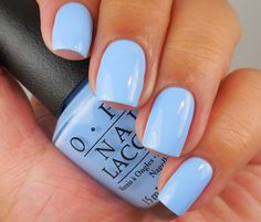 """OPI:  The I's Have It ... a light blue creme nail shimmer polish from the OPI """"Alice Through The Looking Glass"""" Collection 2016"""