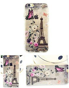 For iPhone 6 case with Eiffel Tower print, iPhone 6 TPU soft case for girls, iPhone 6 4.7'' back soft cover