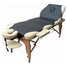 Black And Beige Portable Mage Table Free Shipping