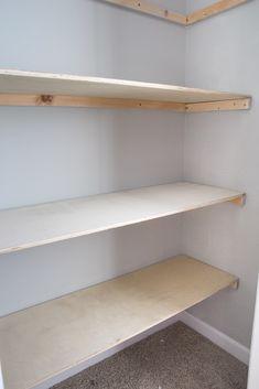 Attractive Basic DIY Closet Shelving