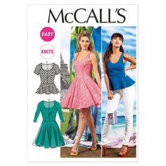 McCall Pattern 6754- Misses Top & Dresses
