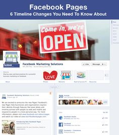 Changes you need to know about the new Timeline for Facebook Pages. Via iHeartFaces.com