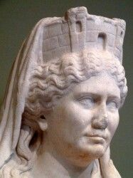 The Cybelean cult was brought to Rome during the Second Punic War (218-201 BCE). During this time the Carthiginian general Hannibal was posing a serious threat to Rome. The Sibylline books (books of prophecy) predicted that Italy would be saved by an Idaean mother of Pessinus; to many this meant Cybele. A black meteorite representing the goddess was brought to Rome from Asia Minor in 204 BCE. Miraculously, Hannibal and his army left Italy shortly afterwards. (Info by Donald L. Wasson) -- AHE