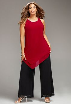Paint the Town Red-Plus Size Outfit-Avenue