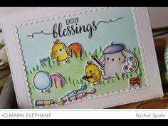 Nichol Spohr LLC: Mama Elephant February Stampede Blog Hop | Lil Painters + GIVEAWAY