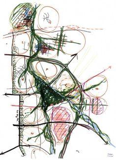 Landscape and urban planning - Architektur Landscape Sketch, Landscape Architecture Design, Landscape Plans, Concept Architecture, Urban Landscape, Architecture Diagrams, Architecture Portfolio, Urban Design Concept, Urban Design Diagram