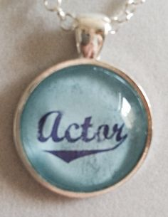 Actor Pendant Necklace by joytoyou41 on Etsy, $20.00