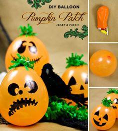 HALLOWEEN DIY: Balloon Pumpkin Patch (A jack-o-tastic craft by Confetti Sunshine!)