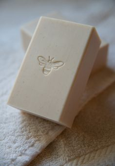 soap | I adore the simple stamp right in the middle and the photo setup with the towels