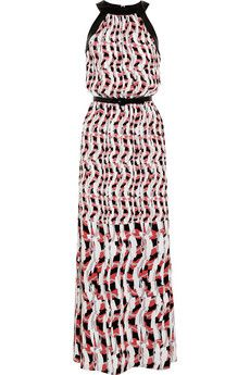 Karl Lagerfeld Aja printed silk-crepe maxi dress | NET-A-PORTER