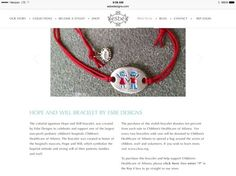 Explanation of the Will and Hope bracelet, a new venture for Esbe Giving Back!!  Proceeds go to Children's Hospital of Atlanta!  #esbe #giveback  www.esbedesigns.com/Suzanne