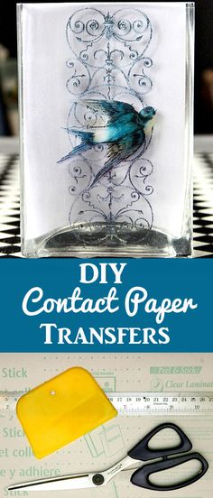 Learn this fun crafting technique to create beautiful accessories for your home. by Heather Tracy for The Graphics Fairy. Crafts For Teens To Make, Diy Crafts To Sell, Easy Crafts, Sell Diy, Kids Diy, Easy Diy, Diy Clear Contact Paper, Contact Paper Crafts, Diy Craft Projects
