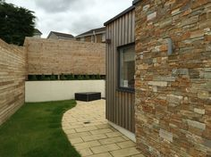 Sandstone and timber cladding. Our house extension project in North Lanarkshire