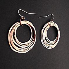 Hoop earrings Copper Earrings Shiny finish by JamieSpinello