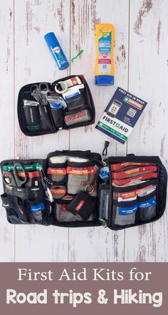 What are the essentials for a first aid kit when you& road trippi Camping And Hiking, Camping Survival, Survival Prepping, Survival Gear, Camping Hacks, Camping Gear, Survival Quotes, Camping Stuff, Camping Equipment