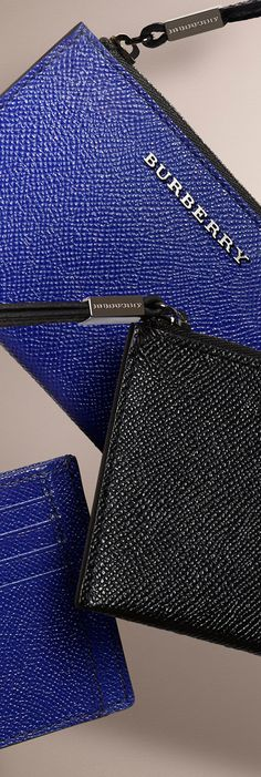 Men's wallets and card cases in sartorial shades and leather for Autumn/Winter 2014