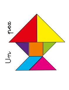 Tangram para niños Tangram Puzzles, Teaching Shapes, Kids Health, Preschool Activities, Messages, Education, Learning, Reading Activities, Fine Motor