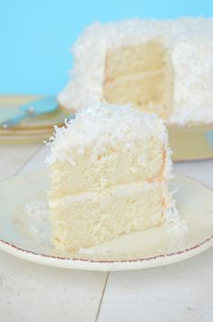 Coconut Cake with Coconut Cream Cheese Frosting......this is my all time favorite!