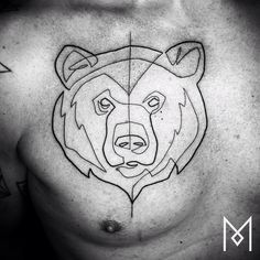 #blackworkerssubmission #blacktattooart #onlyblackart #inkstinctsubmission #equilattera #tattrx #darkartists #tattooistartmagazine #bear #moganji #singleline