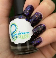 'interference' by @carlylizabeth on Instagram #pipedreampolish #nails #nailpolish #indiepolish #glitter www.pipedreampolish.com
