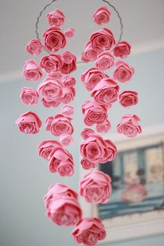 pretty décor for a little girls room...... hang from ceiling for a soft romantic effect.
