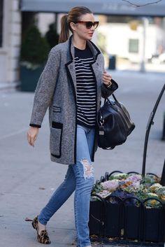 Great coat Miranda Kerr