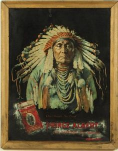 Prince Albert Tobacco Chief Joseph Tin Sign