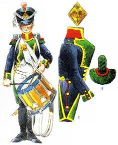 Tambour de fusiliers du 4e de Ligne d'après Rigo