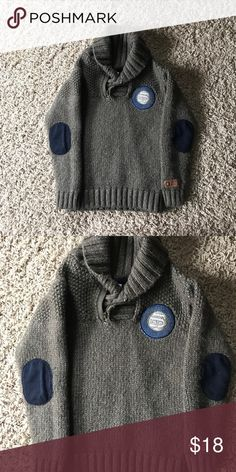 Tumble N Dry Boys Sweater Olive green with navy elbow patches and emblem tumble n dry Shirts & Tops Sweaters