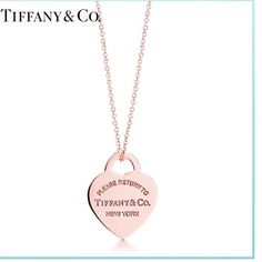 Rose gold Tiffany & Co necklace Has been worn- metal! Not real gold Tiffany & Co. Jewelry Necklaces