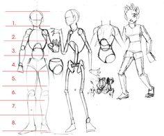 นิยาย ฝึกวาดการ์ตูน (กับบ่าวเบิ้ม) > ตอนที่ 3 : บทที่3 วาดตัว และสัดส่วนโดยรวม (แก้ใขภาพแล้ว) : Dek-D.com - Writer