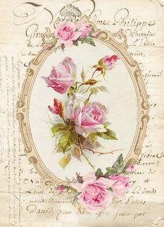 Vintage roses printable в Кургане