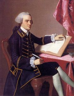 John Hancock (USA Important man, signed the Declaration of Independence) by John Singleton Copley.John Hancock was also a member of the Free Masons. American Revolutionary War, American War, Early American, American History, American Presidents, Conquistador, John Hancock, Colonial America, Declaration Of Independence