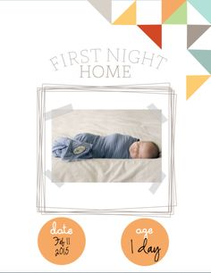 Free Printable Baby Book First Night Home