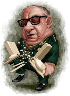 #Caricatura do #ditador #Costa e Silva , presidente do país de 15/03/1967-31/08/1969.