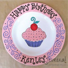 Hey, I found this really awesome Etsy listing at https://www.etsy.com/listing/123093306/swirl-cupcake-birthday-plate-large