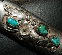 NAVAJO LIGHTER CASE c1950 Candelaria Sterling by AuctionHunter, $85.00