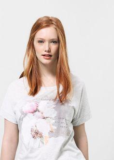 T-shirt imagem estampada -  Violeta | VIOLETA BY MANGO