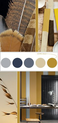 Ochre Gold, Color of the year 2016 Nordsjø My Mood Colorful Interior Design, Yellow Interior, Colorful Interiors, Home Interior Design, Interior Colors, Colour Schemes, Color Trends, Design Trends, Design Ideas