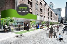 New York urban renewal concept aims to create more functional public places from sidewalk construction sites -- transforming them from an eyesore to a community asset.