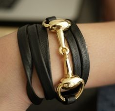horsebit wrap bracelet. this should be handed out to any girl born in Kentucky...