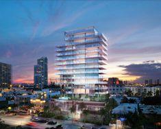 glass residential tower by rene gonzalez
