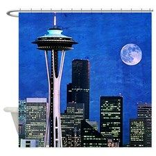 Bird Ave Seattle Shower Curtain