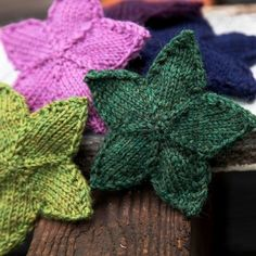 Free Knit Stars Pattern.