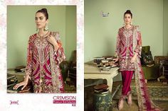 Shree Fabs Crimson Premium Eid Collection Series At Wholesale Price Surat Pakistani Suits Online, Pakistani Lawn Suits, Pakistani Dresses, Fashion Pants, Fashion Dresses, Saree Petticoat, Suits For Women, Clothes For Women, Eid Collection