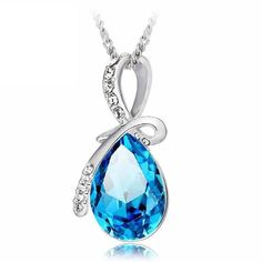 Necklace pendants designs rhinestone crystal water drop pendant necklace for women #3 #diamond #pendants #necklaces #necklace #making #pendants #necklace #pendants #for #couples #necklace #pendants #in #bulk