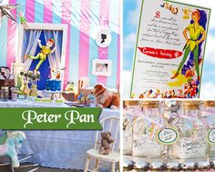 Peter Pan Party Printable Birthday KIT - Neverland Tinkerbell Peter Pan Party - Digital File - PDF