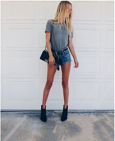 grey & cutoffs