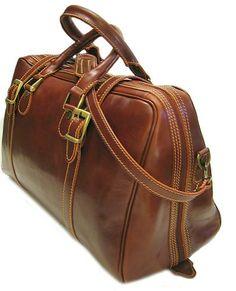 Floto Luggage Trastevere Duffle Travel Bag, Vecchio Brown, Medium Floto