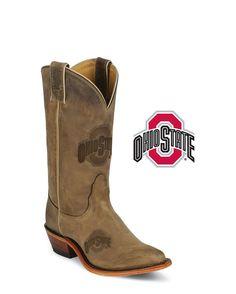 Nocona Women's Ohio State Buckeyes Branded Boot